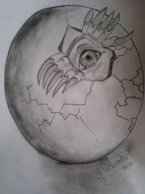 Augen, Bleistiftzeichnung, Kohlezeichnung, Zeichnungen