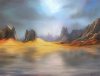 Landschaft, Entspannte stimmung, Stille, Malerei