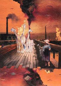 Steg, Giraffe, Fabrik, Scherenschnitt