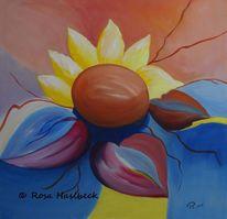 Frühling, Natur, Sonne, Acrylmalerei