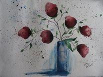 Blumen, Aquarell kaufen, Aquarellmalerei, Rot