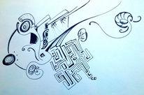 Improvisation, Hände, Labyrinth, Spinne