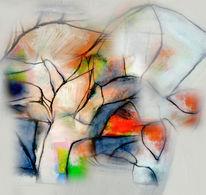 Digitale kunst, Erwachen, Blätter