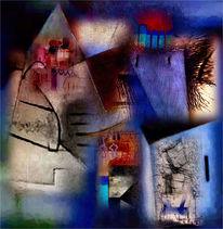 Moschee, Pyramide, Mauer, Digitale kunst