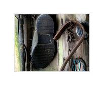 Schuhe, Zerfall, Stillleben, Bauernhaus