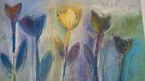 Tulpen, München, Acrylmalerei, Modern