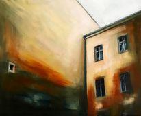 Innenhof, Fenster, Architektur, Malerei