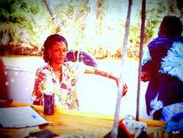 Mangroven, Fluss, Frau, Fotografie
