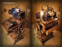 Jules verne, Steampunk, Vintage, Webcam