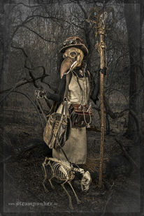Tod, Maske, Hund, Knochen