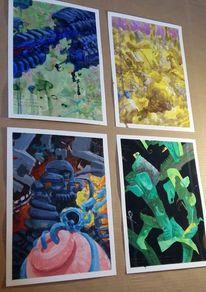 Malen, Mauer, Zeichnung, Malerei