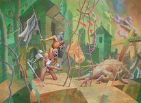 Nrw, Ölmalerei, Meteorit, 2013
