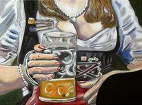 Bier, Oktoberfest, Wiesn, Frau