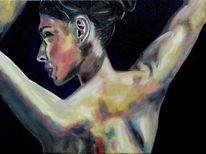 Rücken, Ölmalerei, Frauenportrait, Gesicht