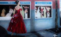 Rot, Straße, Merkwürdig, Kleid