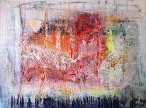 Verschneidungen, Abstrakt, Gelb, Expressionismus