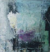 Moderne malerei, Aufgewühlt, Abstrakt, Schwarz weiß