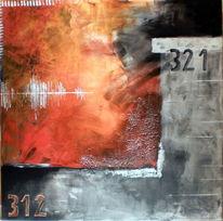 Modern, Orange, Abstrakt, Struktur