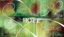 Hoffnung, Liebe, Glaube, Grün