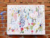Pink, Muster, Blumen, Natur