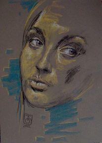 Portrait, Menschen, Pastellmalerei, Zeichnung