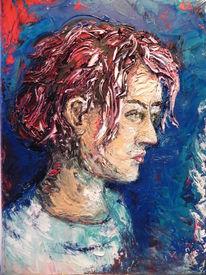 Verschließen, Rote haare, Gesicht, Frau