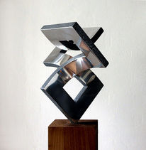 Konstruktion, Skulptur, Bewegung, Metall