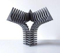 Verbindung, Objektive skulptur, Beziehung, Stahlskulptur