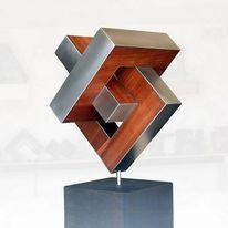 Konstruktion, Entfaltung, Begegnung, Skulptur