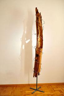 Kunstobjekt, Skulptur, Buch, Stacheldraht