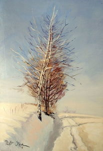 Schnee, Winter, Weg, Baum