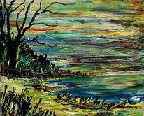 Atelier, Gemälde, Ölmalerei, Wolken