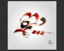 Liebe, Kalligrafie, Tusche, Malerei