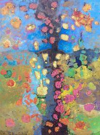 Panel, Expressionismus, Abstrakt, Ölmalerei