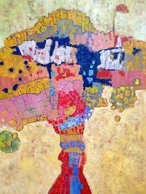 Ölmalerei, Panel, Abstrakt, Expressionismus