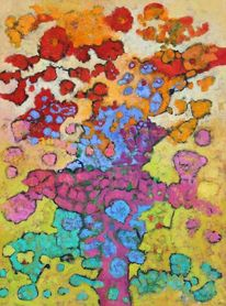 Expressionismus, Abstrakt, Ölmalerei, Panel