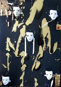 Weiß, Maske, Ehre, Gold