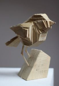 Vogel, Skulptur, Dekoration, Wooden birds