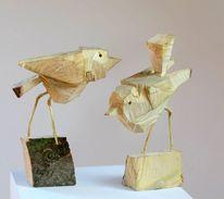 Dekoration, Vogel, Holz, Modern