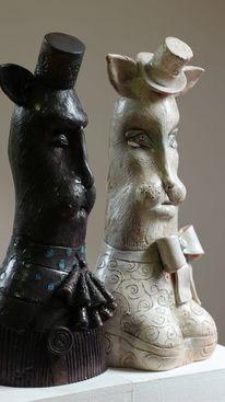 Ceramic sculpture, Dekoration, Keramik skulptur, Figur