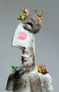 Dekoration, Figurativ, Vogel, Ceramic sculpture