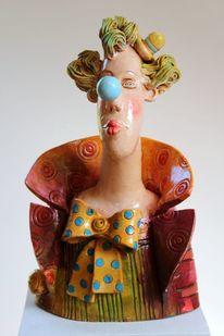 Keramik clown, Skulptur, Frau, Modern
