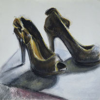 Goldbraun, High heels, Pumps, Damenschuhe