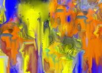 Digitale bearbeitung, Gelb, Bildbearbeitung, Digital