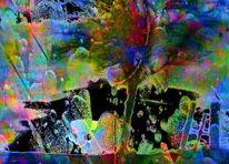 Farben, Fantasie, Bildbearbeitung, Digitale kunst