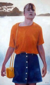 Teenager, Shoppen, Mädchen, Malerei