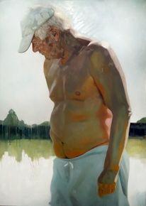 Mann, Erinnerung, Licht, Malerei