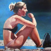 Strand, Licht, Sonne, Malerei