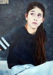 Wand, Unschuld, Teenager, Malerei