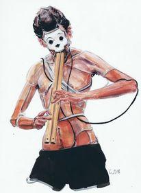 Musik, Aufführung, Zeichnungen,